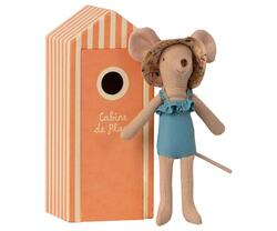 Maileg - mother mouse with beach cabin - pre-order. Expected Delivery from: 01-05-2021