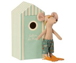 Bath mouse, big brother with own beach cabin, -Pre-order -Expected delivery from: 01-05-2021