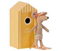 Bath mouse, big sister with own beach cabin, -Pre-order -Expected delivery from: 01-05-2021