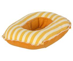 Maileg - Rubber boat, small mouse - Yellow stripe - Pre-order - Expected in stock from 1-5-2021