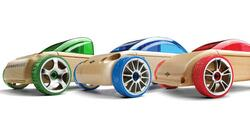 3 smukke Mini cars (3 pack), Blue-Red-Green fra Automoblox