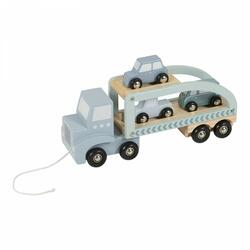 Wooden truck - blue / mint