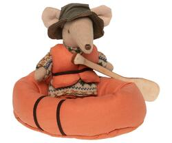 Maileg - Inflatable boat - Rubber boat, Mouse