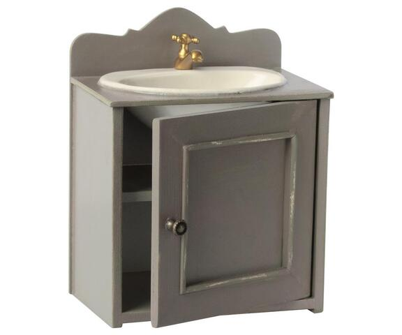 Maileg - Miniature cabinet with washbasin in zinc