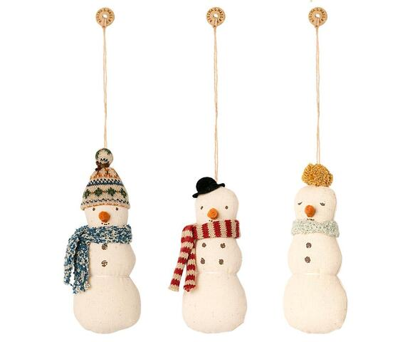 Maileg - Snowman ornament set of 2 ass.