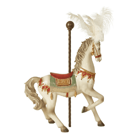 Circus horse antique look 54 cm.