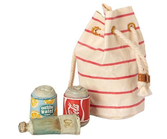 Maileg - Bag w. beach essentials - Pre-order - Expected in stock from 1-5-2021