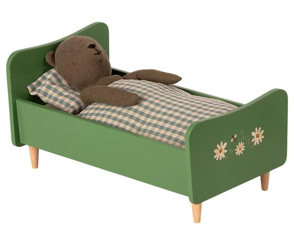 Maileg - Wooden bed - Dusty green - to Teddy far - Pre-order - Expected in stock from 4-6-2021
