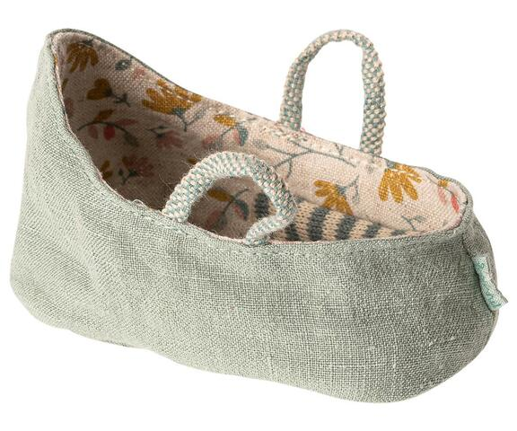 Maileg - Carry cot - MY - Dusty green