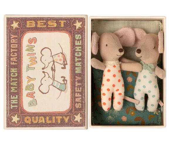 Maileg - Baby mice - Twins in matchbox