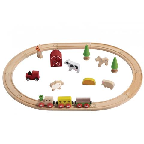 Togbane ØKOLOGISK fra Everearth - Farm Train Set