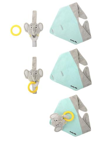 Buddy Bib, Eli Elephant, Practical Buddy Bib 3-in-1 bib from Malarkey Kids.