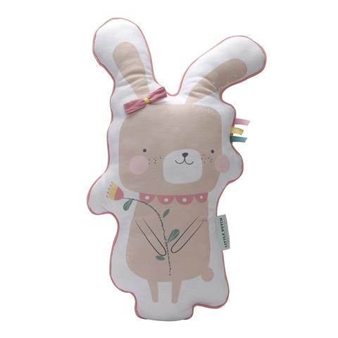 Rabbit pillow pink from Little Dutch