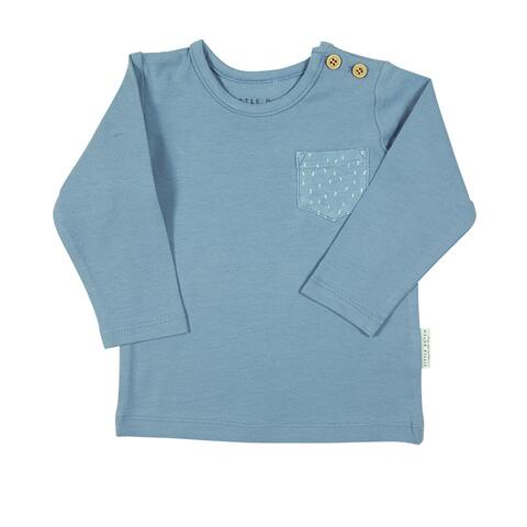 T-Shirt with long sleeves - Blue - Size 74