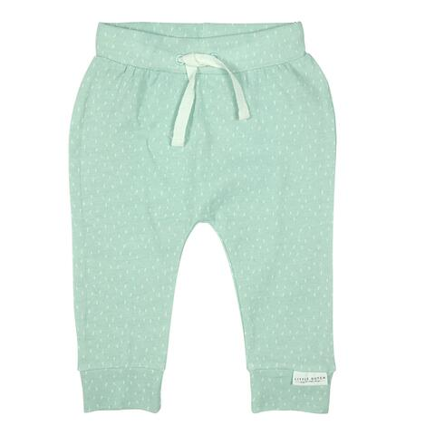 Super smart mint trousers with a white pattern from Little Dutch