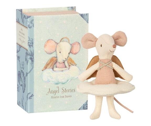 Maileg - Angel Mouse - big sister in book