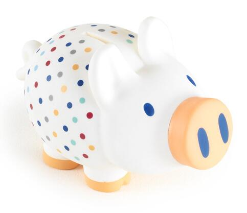 My first piggy bank - choose ml. 2 colors