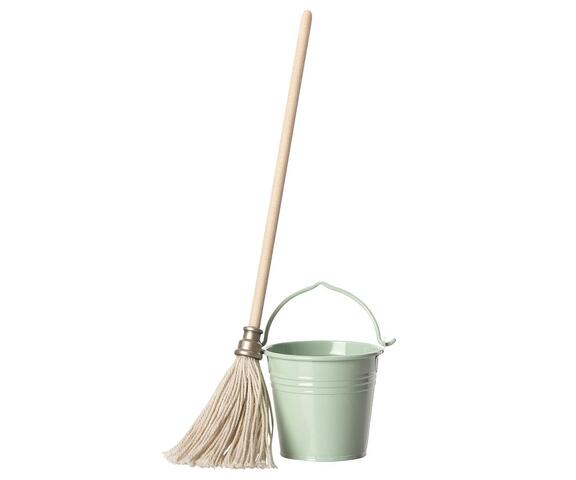 Maileg - Bucket and Mop for Maileg friends