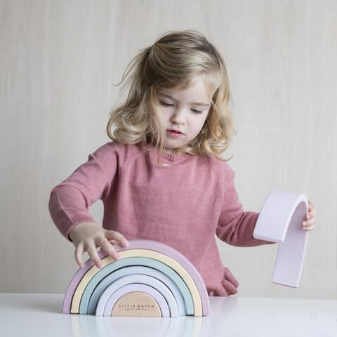 Wooden Rainbow, Pink - from Little Dutch Wooden