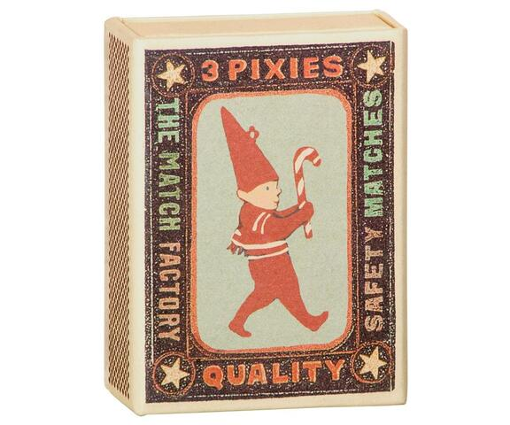 Maileg - Ornament box w. pixies, metal 3 ass.