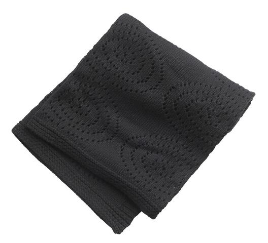 Cotton blanket black for the cot / pram from Kids Concept