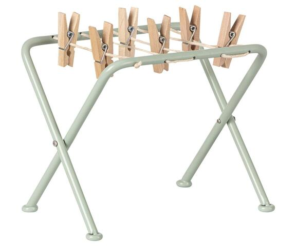 Maileg - Drying rack with clamps - Drying rack w. pegs