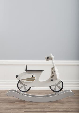 Rocking Scooter gray / white