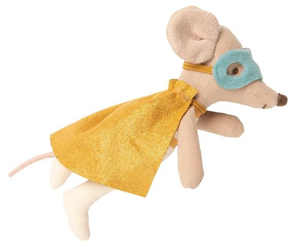 Maileg - Superhero Mouse in suitcase
