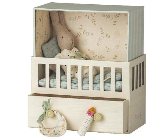 Maileg - Baby Room with Micro rabbit