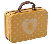 Maileg - Suitcase metal - Yellow dots