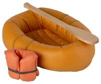 Maileg - rubber boat for mouse - Dusty yellow