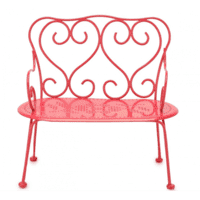 Maileg - Metal bench - Mini - Red