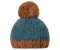 Maileg - Best Friends - Knitted hat - Petrol/Brown