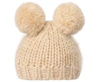 Maileg - Best Friends - Strikket hue med 2 pompom - Cream