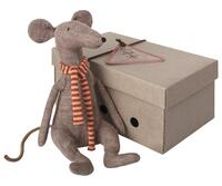 Maileg - Cool Rat - Grey - 29 cm.