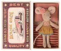 Maileg - Little sister mouse in matchbox - 10 cm.