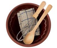 Maileg - Dough dish with whisk, saucepan and tea towel
