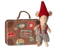 Maileg - Christmas mouse in suitcase - Christmas mouse in suitcase