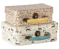 Maileg - SUITCASE W. FABRIC - 2 PCS. - Suitcase set 2 pcs.