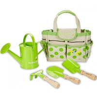 Garden Set - Garding Bag With Tools. Emma recommends the garden set, which ensures that bla. water jug and shovel are easy to get around.